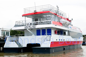 China 28m Aluminum Catamaran Builder 180 Passenger Ferry Boat For Sale