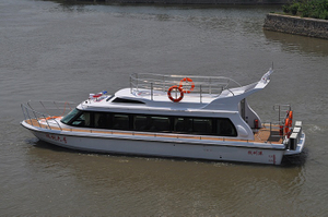China 12.8m GRP River 26 Passenger Dinner Cruise Boat for Sale