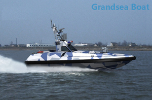 Fiberglass Surface Drive High Speed Unmanned Boat for Sale