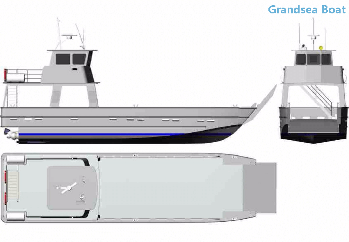8.8m 29ft Aluminum Landing Craft Boats for Sale