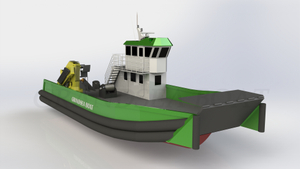 18m Aluminum Landing Craft Multi-purpose Work Barge Boat for Sale