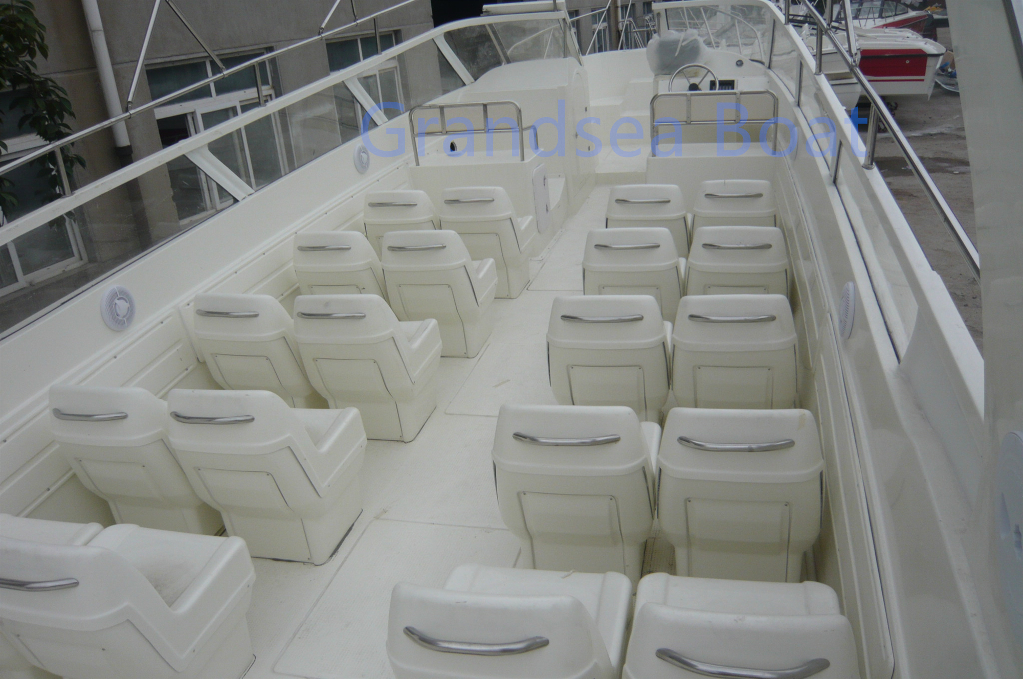 11.6m Fiberglass 25 Persons High Speed Passenger Water Taxi Boat for Sale