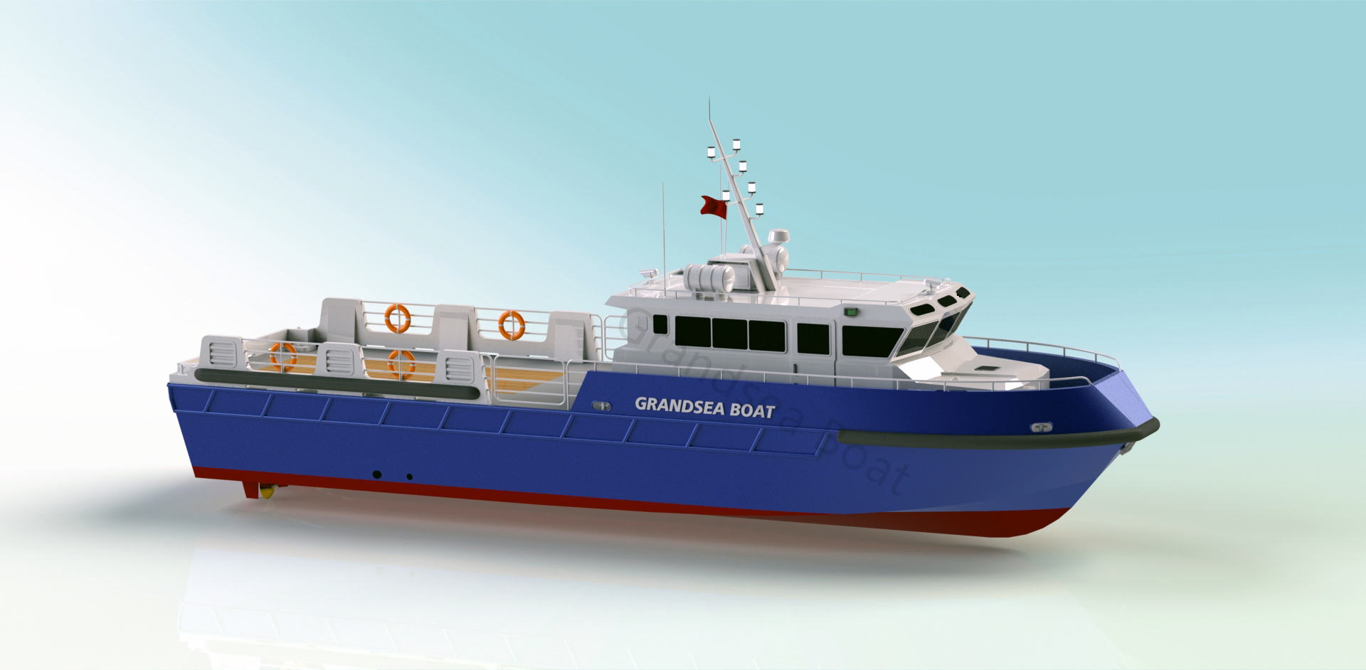Grandsea 22m Aluminum Offshore Supply Boat/crew Boat/work Boat for Sale