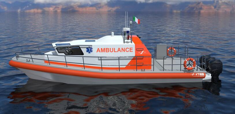 Grandsea 38ft FRP Rescue And Ambulance Boat for Sale
