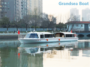 75 Seats New Energy Green Power Electric Hydraulic Touring Boat for Sale