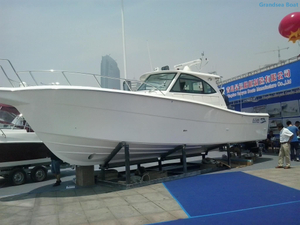 40ft Inboard Diesel Engine Deep Sea Fiberglass Fishing Boats for Sale